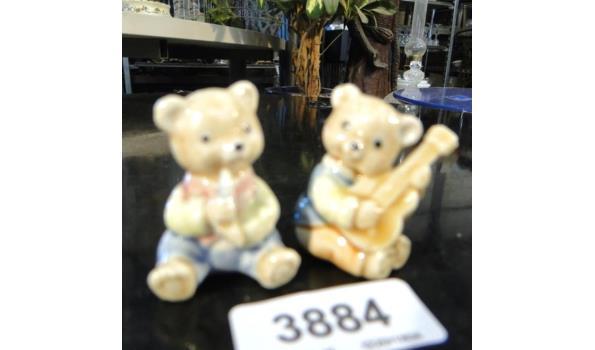 2 Porseleinen miniatuur Beren