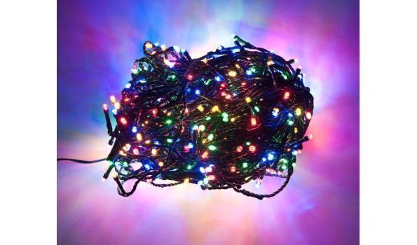 Kerst verlichting 140 lamps Led voor binnen en buiten multicolor 2x