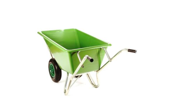 Kruiwagen 160 liter lichtgewicht 2x