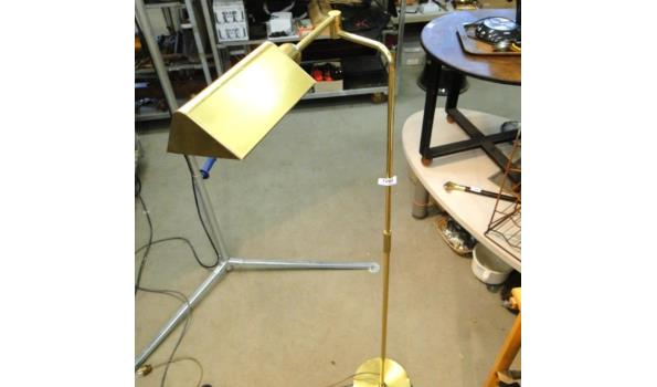 Messing staande lamp