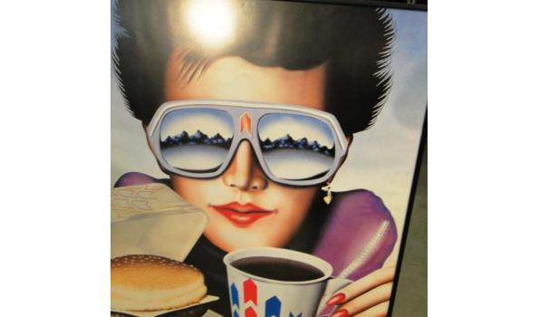 Americain cafetaria druk