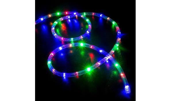 Lichtslang 50 LED, 5 meter, multicolor 2x