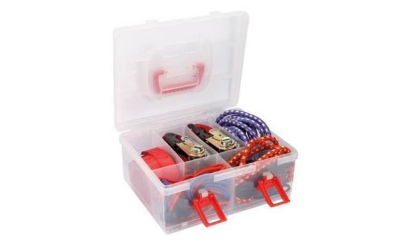 Ratelspanbanden en spanelastieken 20 delig in koffer