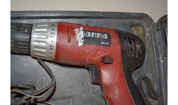 Gamma accuboormachine