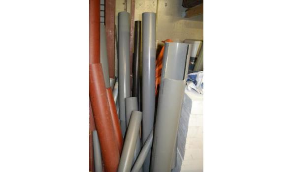 Diverse soorten PVC  buizen in diverse maten
