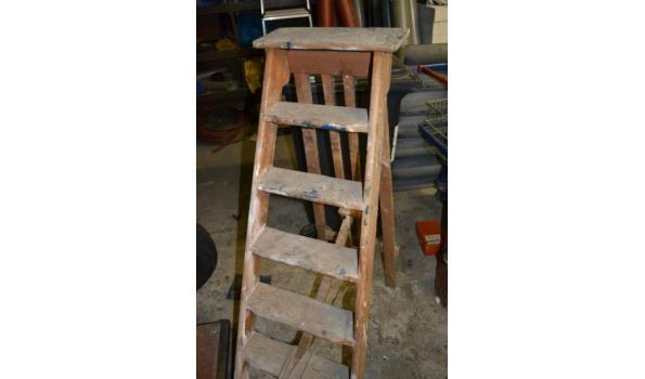 Houten schilders trap 6 tredes