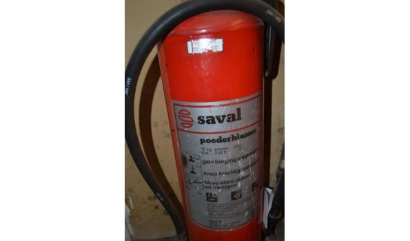 Saval/Ajax brandblusser - 2 stuks