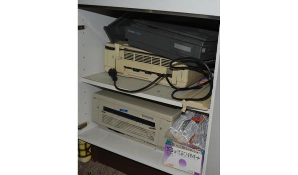 Diverse telefoons en printers
