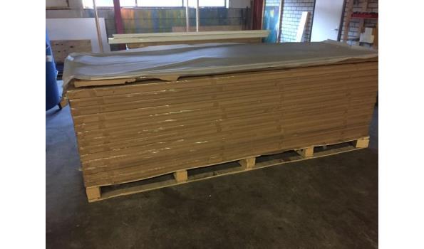 Eiken tafel met trapeze poten, 200 x 100 cm
