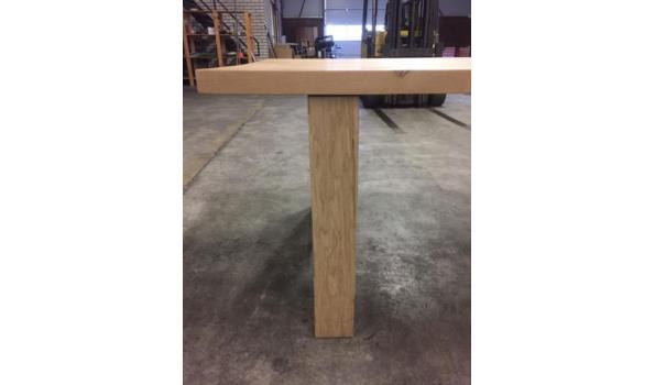 Eiken tafel met moderne poten, 300 x 100 cm