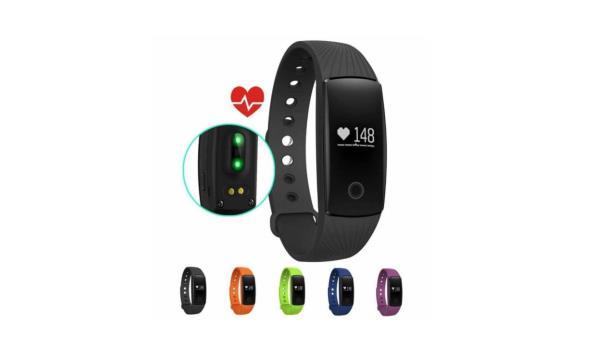 Bluetooth Fitness Armband Met Hartslag Meter - Oranje