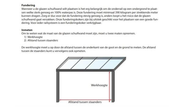 Glazen schuifdeursysteem 5 deurs, veiligheidsglas 10 mm, 4900mm breed, 2350mm hoog, crémewit RAL9001