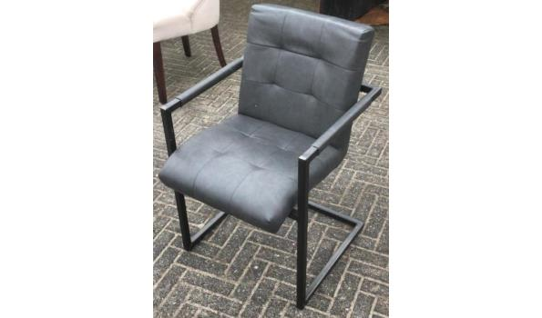 Eetkamer stoelen, Industrial Metall/Grey, 4x