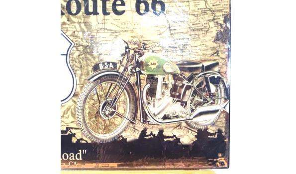 Metalen bord Route 66