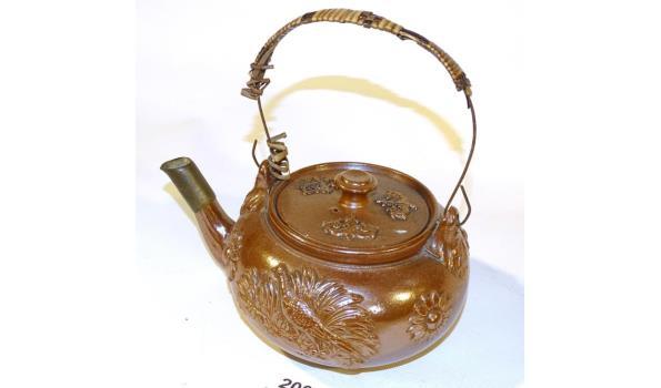 Oud aardewerk theepot