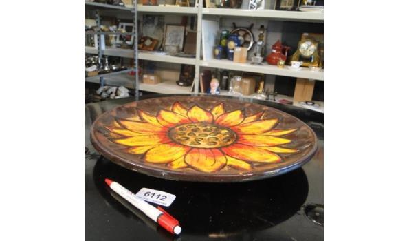 Kapitale aardewerk Zonnebloemschaal