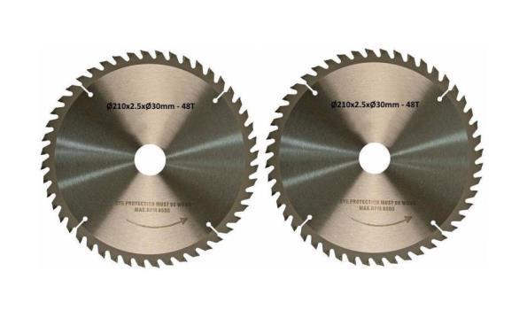 Cirkelzaagblad 210 mm, 48 tanden, 2x