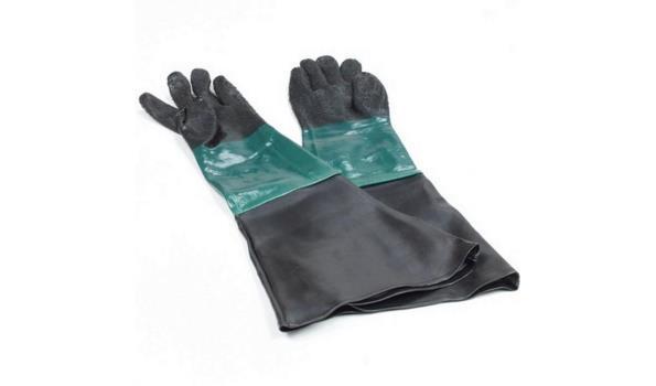 Zandstraal handschoenset