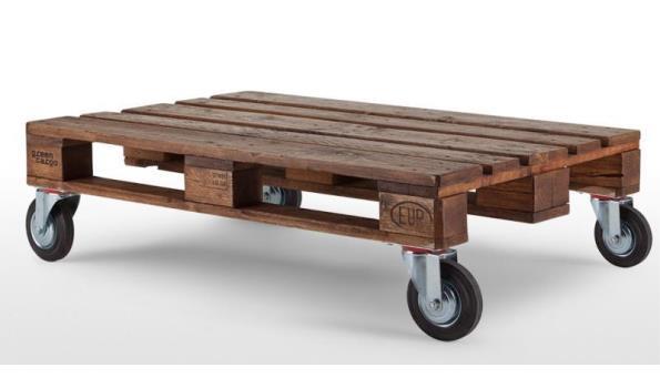 Fabulous Pallet tafel Used look, 80x 120 cm, met wielen 160 mm | ProVeiling.nl WB38
