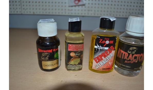 Diverse lokvoer liquid o.a. merk Nashbait -  4 stuks