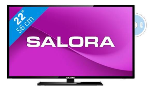 Salora LED tv/ DVD combi 22inch/ 56cm