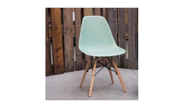 Eetkamer stoel Trend green soft 4x