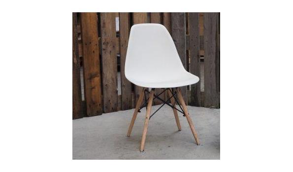 Eetkamer stoel Trend white 4x