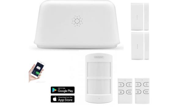 Wifi Alarmsysteem, draadloos, 6 delig, 2x