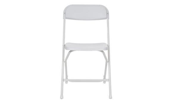 Vouwstoel, wit, 2x