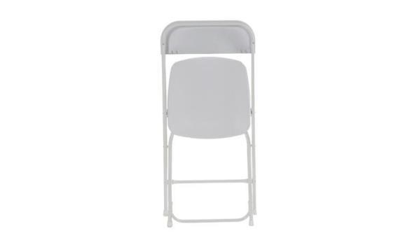 Vouwstoel, wit, 4x