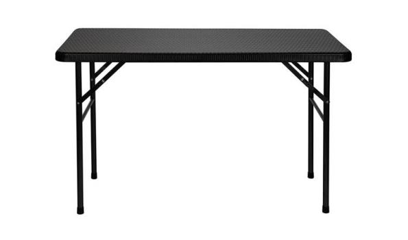 Tafel, opklapbaar, rotan look, 120x60cm