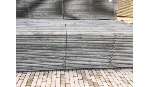 Steigerplanken/steigerhout 500 cm 30 x 200 mm grey washed