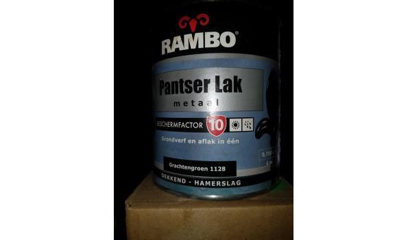 Rambo Panserlak Metaal Hamerslag grachtengroen, 3x