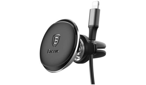 Luxe Magnetische Smartphonehouder Incl. Kabelhouder (360 graden verstelbaar) - Zwart
