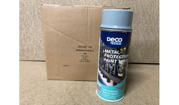 Spuitbussen metaal beschermende lak glans zilver RAL 7001. 6 stuks
