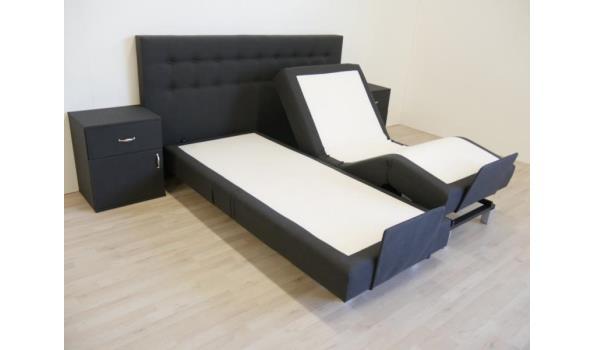 Boxspring Verstelbaar Homo Luxo, 160x200 cm, antraciet