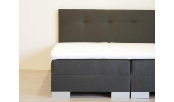 Boxspring elektrisch Modern Brussel, 140x200 cm, antraciet