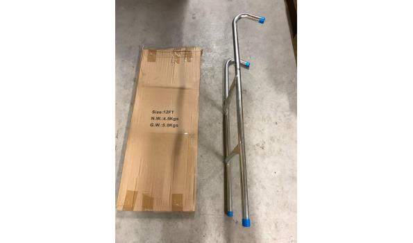 Aluminium trapje - 2 treden, 5 stuks