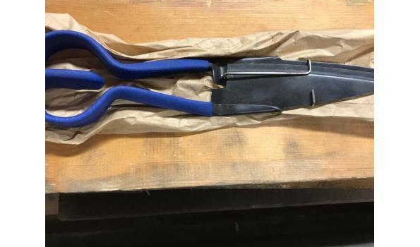 Buxusschaar, blauw metaal.