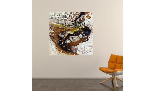 """Abstract werk op forex van kunstenares """"triple J"""" 40cm"""
