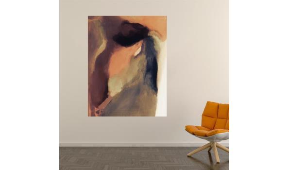 """Abstract werk op forex van kunstenares """"triple J"""" 90cm"""