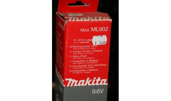 Makita accuhouder voor verlichting model ML902 - 9,6V