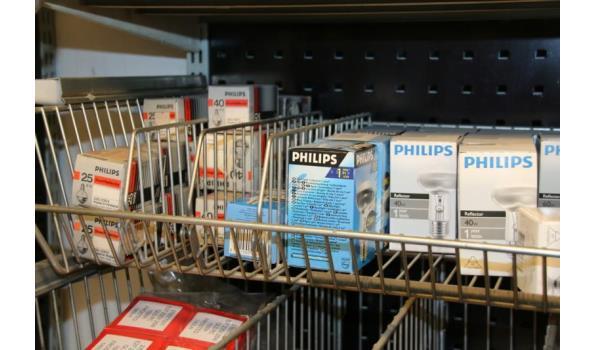 Partij diverse soorten lampen o.a. Philips Reflectro 40W