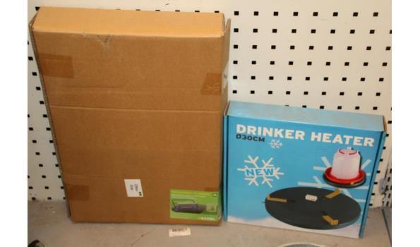 Kerbl wandrolhouder & Drinker Heater drinkbak