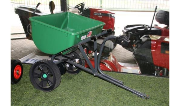 Strooiwagen, kleur groen kunststof
