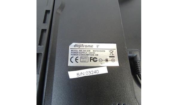 """Watsvision 9"""" Digiframe model WA-900-BW"""