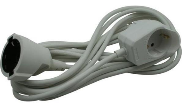 Verlengsnoer 5mtr met stopcontact, 10x