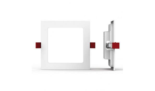 Inbouwspot Led, vierkant, 8x