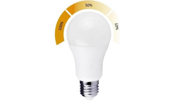 LED lamp E27, 9 watt, warmwit, met dag/nachtsensor, 5x