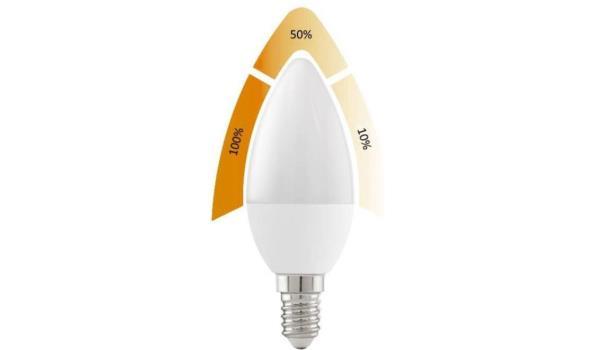 LED lamp E14, 4 watt, warmwit, dimbaar, 5x